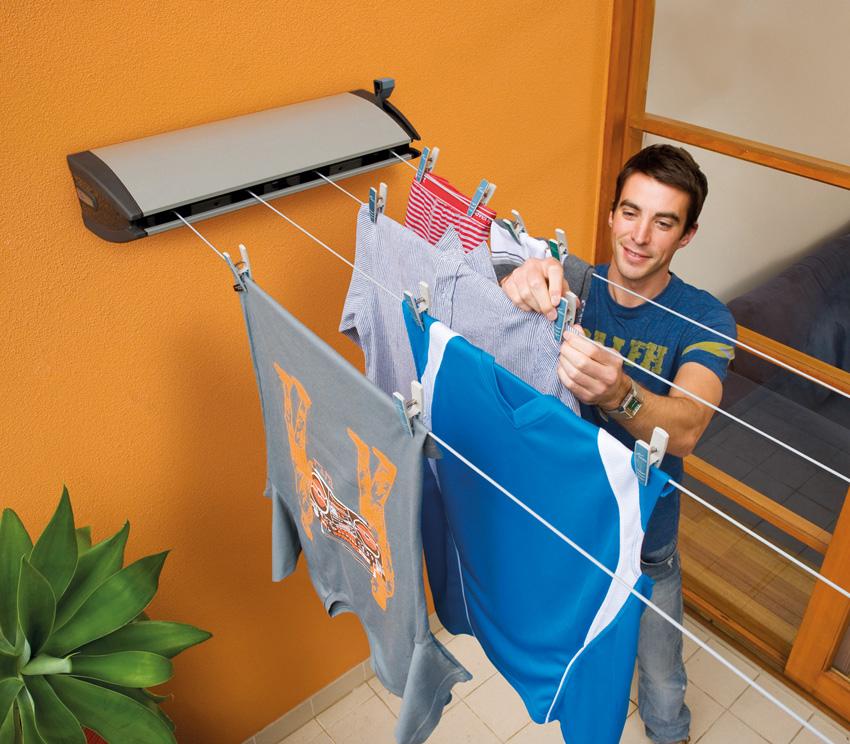 The Hills Extanda 4-Line Retractable Clothesline, Indoor/Outdoor