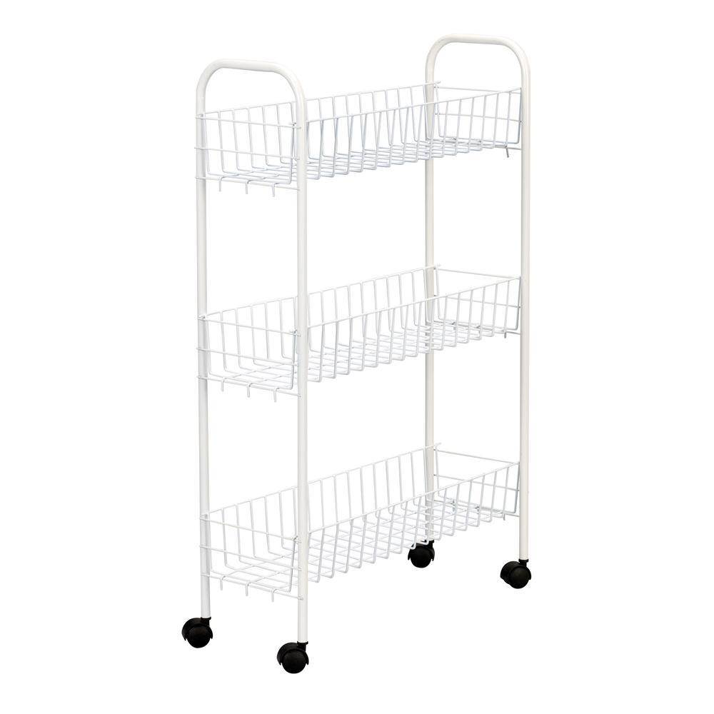 3 Shelf Slim Utility Cart