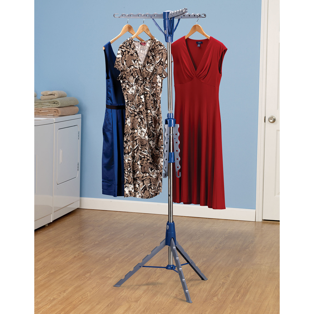 Household Essentials Tripod Freestanding 2 Tier Hanger