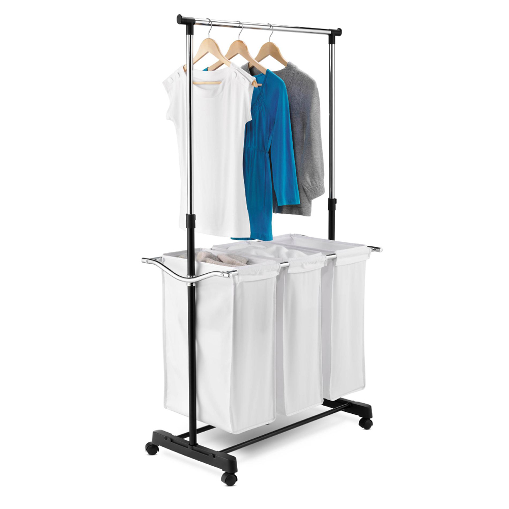 Honey Can Do 3 Bag Laundry Sorter With Adjustable Hanging