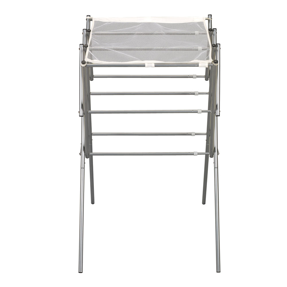 Home :: All Product :: Expandable Clothes Drying Rack - Satin Silver