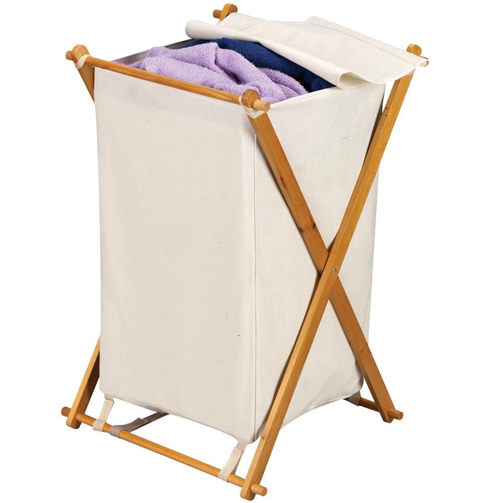 Fir Wood Hamper - 70-30 Poly-Cotton Bag