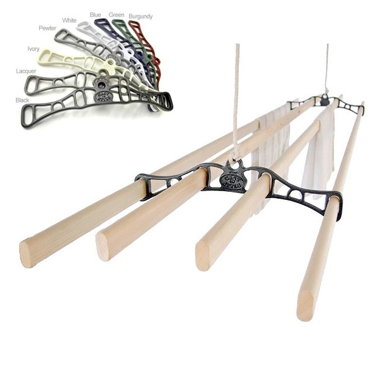 Cast in Style Kitchen Maid Traditional 4 Ceiling Clothes Airer
