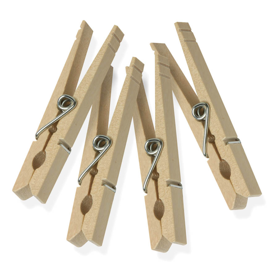 200pk Classic Wooden Clothespins, Natural