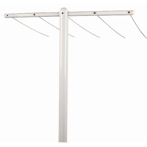 Outdoor Mega T-Post Assembly Clothesline