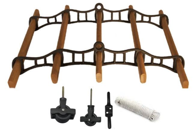 Fairfield 5 Lath Cast Ceiling Airer Kit