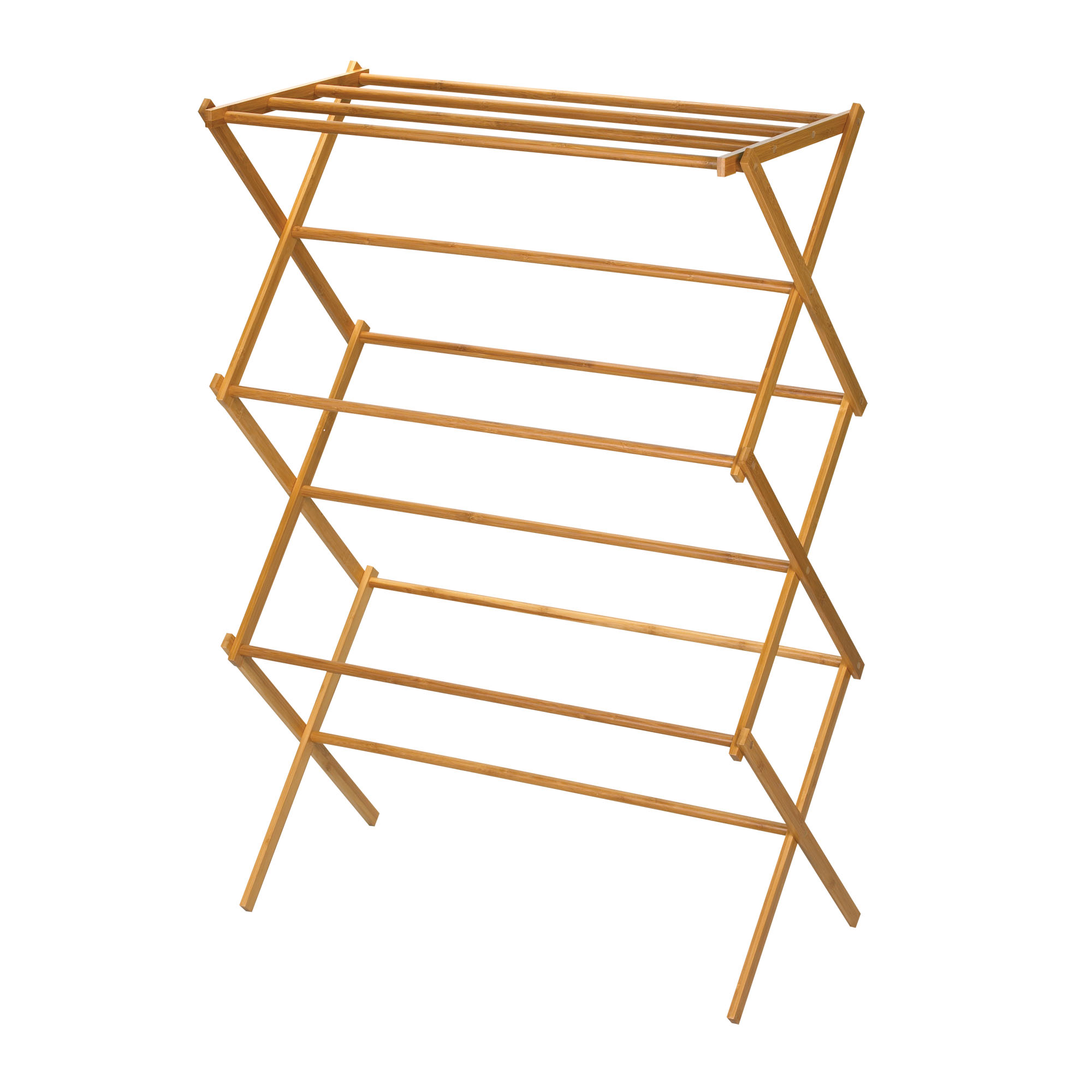 Clothes rack with wood shelf