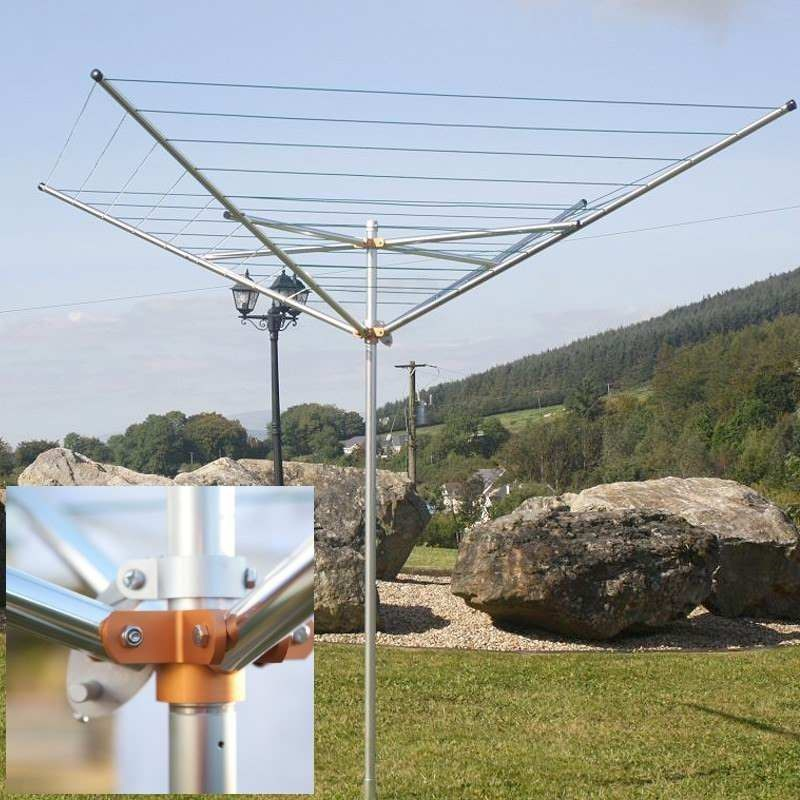 Breezecatcher 120ft Top Spinner Rotary With 4 Arm Clothesline