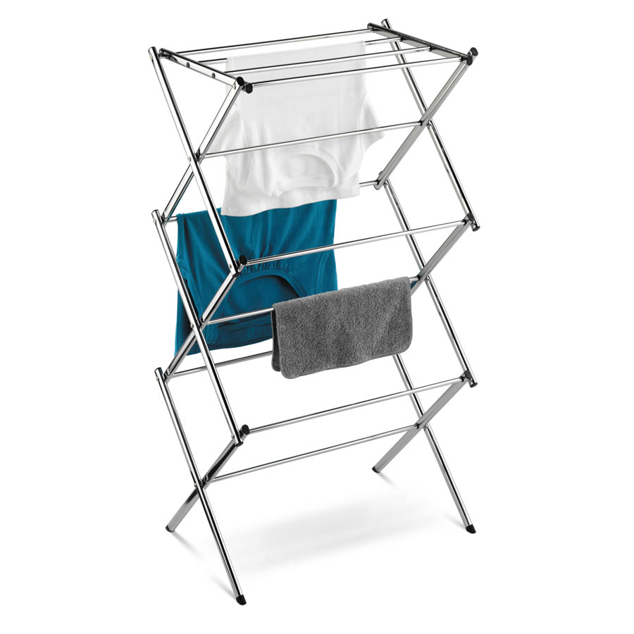Slim Chrome Commercial Drying Rack, Silver