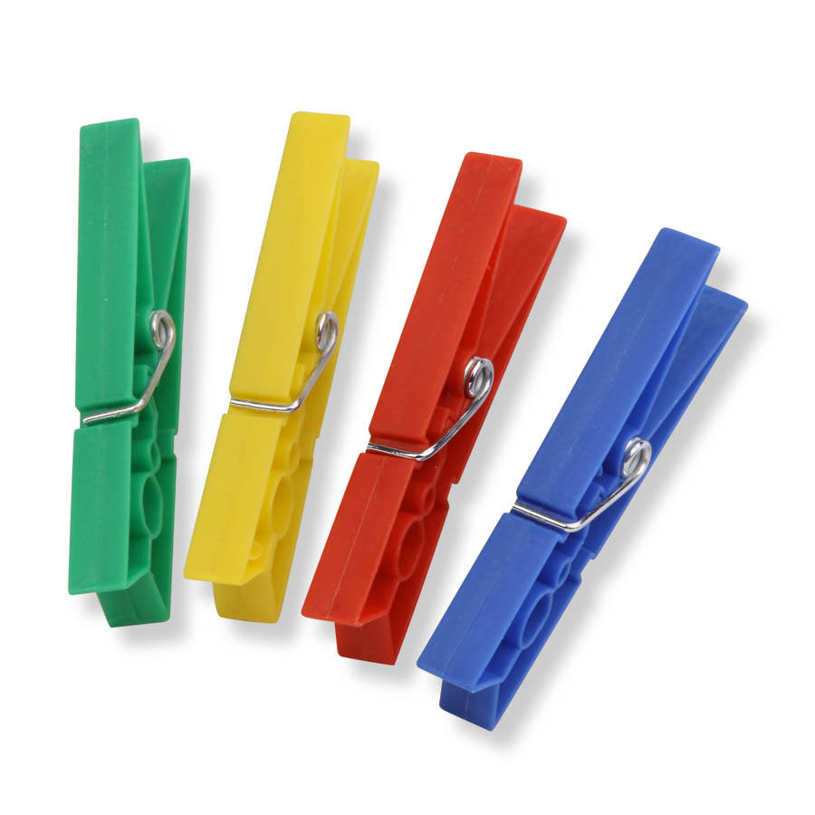 Set of 2 - 100pk Classic Spring Plastic Clothespins, Multicolored