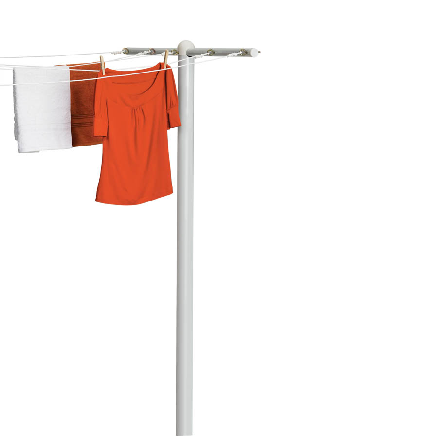 T-Post for 5-Line Outdoor Clothes Drying