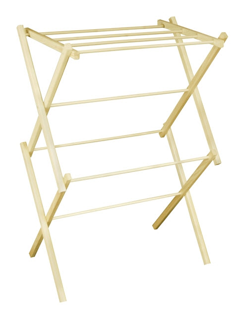 Portable Wooden Clothes Drying Rack - 302