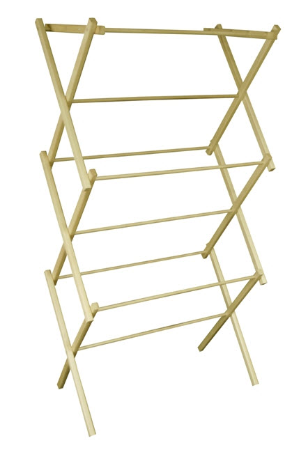 Portable Wooden Clothes Drying Rack - 303