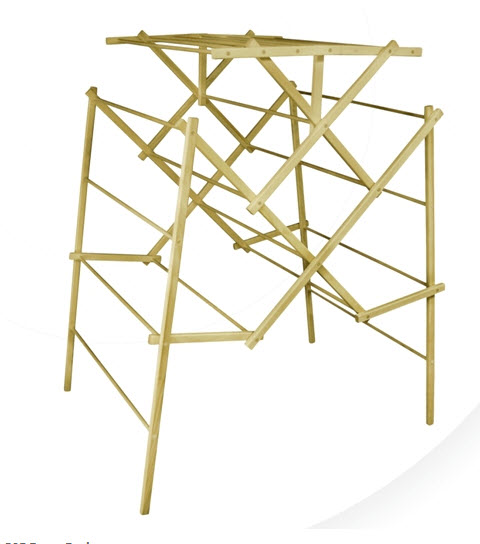 Portable Wooden Clothes Drying Rack - 305