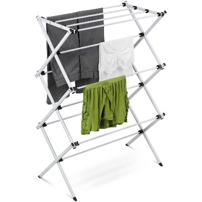 Accordion Drying Rack In Deluxe Steel