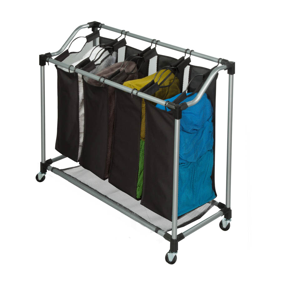 Steel Elite Quad Sorter, Silver / Black