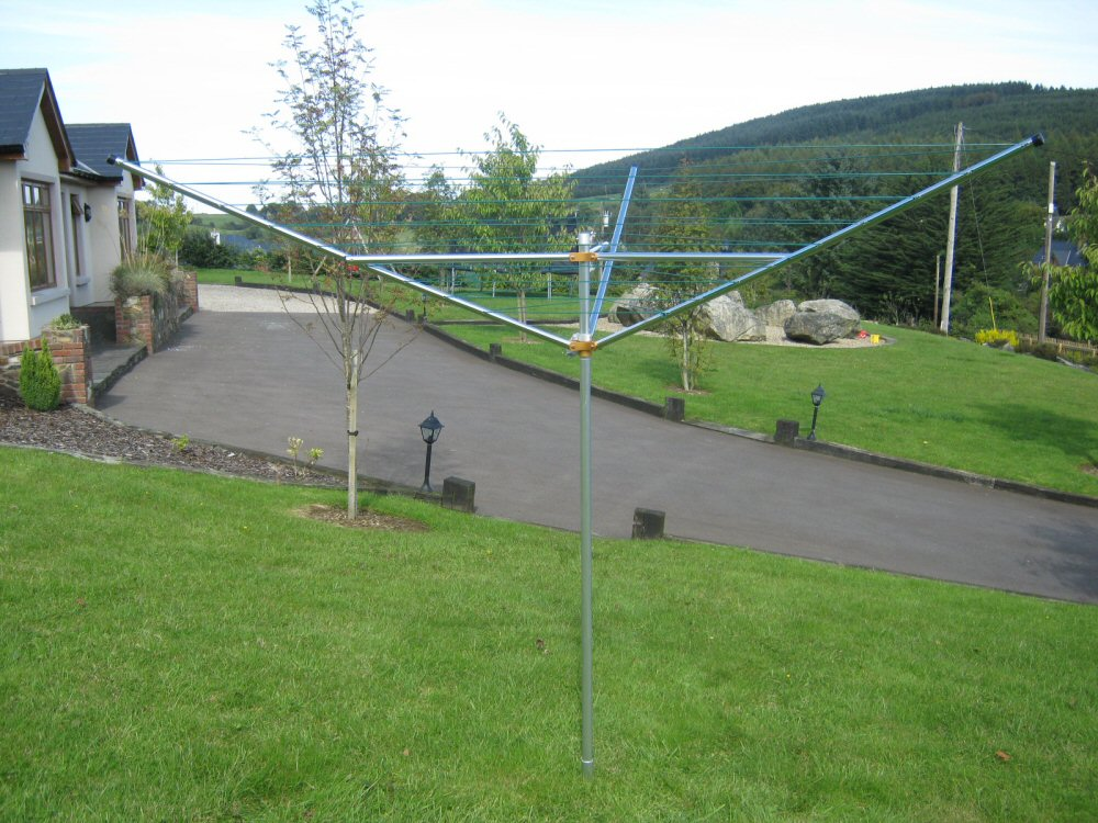 Breezecatcher 3 Arm 125ft Rotary Clothesline