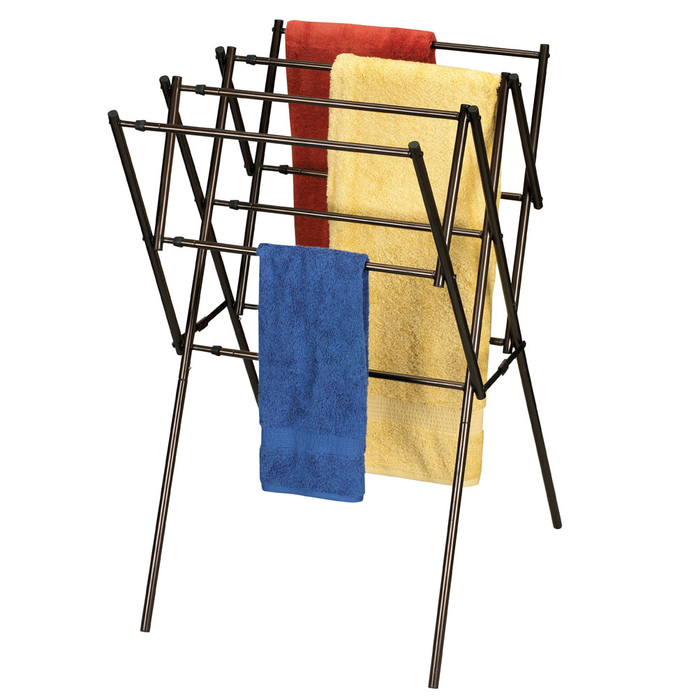 clothes drying rack antique bronze the expandable clothes drying rack ...