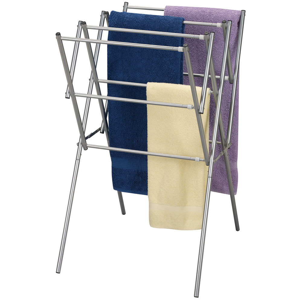 clothes drying rack satin silver expandable clothes drying rack ...