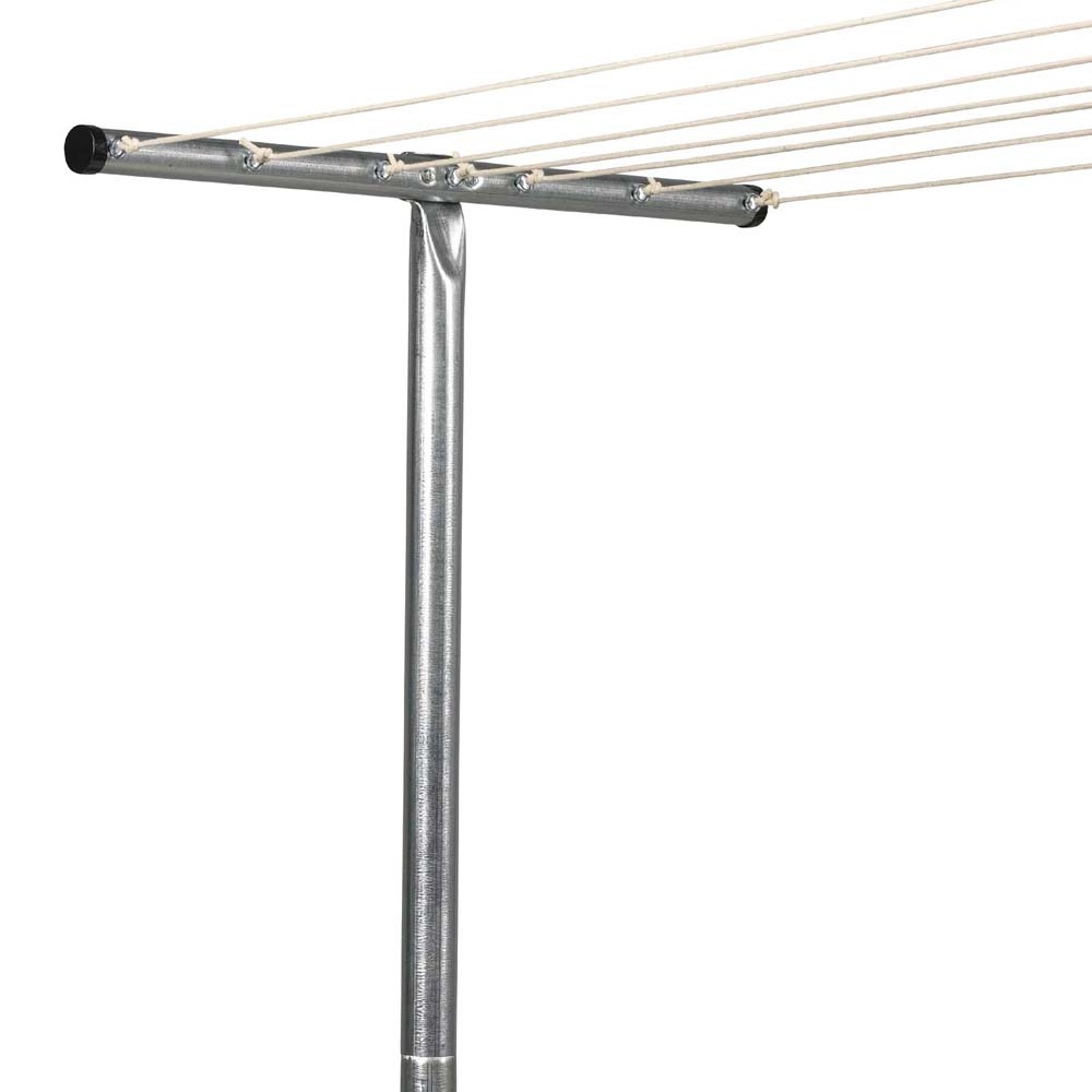 Steel T-Post Outdoor Clothesline