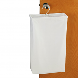 Doorknob Laundry Bag - White Canvas