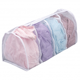 Hosiery Wash Bag with 4 Compartments - White Polyester