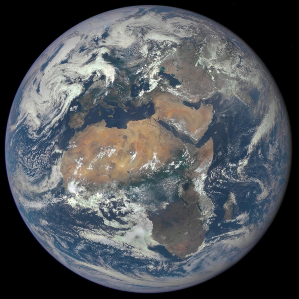 Earth from space, 2015, courtesy NASA