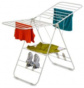 The Steel Gull Wing Clothes Airer is a rack that folds for storage