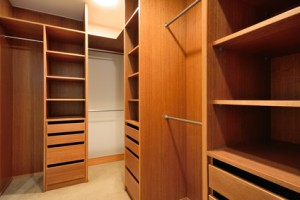 Walk in closet or wardrobe