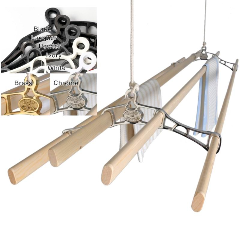 Victorian Kitchen Maid Ceiling Mounted Clothes Airer