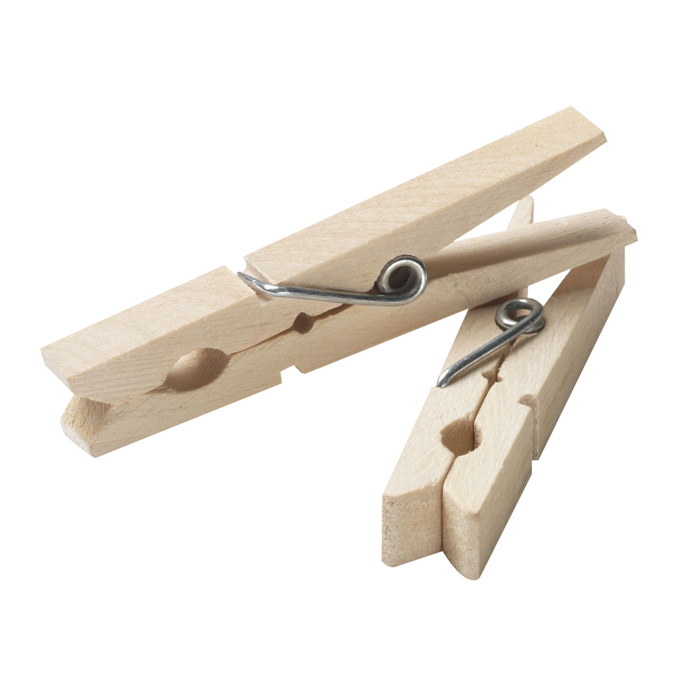 Whitney Clothes Pins Traditional Wood 50 100 Pack