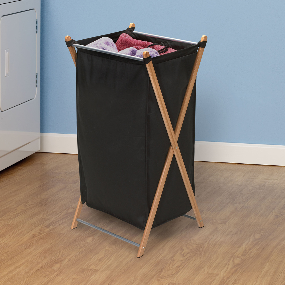 Bamboo hamper - Bamboo clothes hamper ...