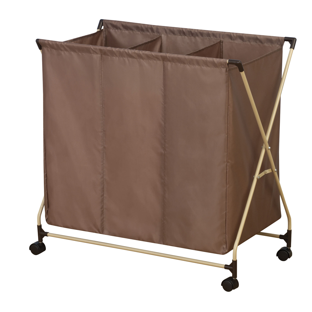 Laundry Sorter With 3 Compartments