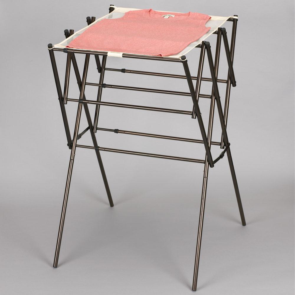 household essentials indoor clothes dryer expanding top drying rack antique bronze urban