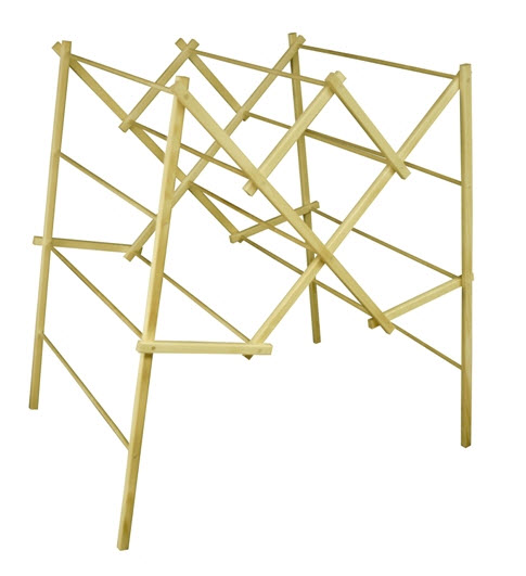 Portable Wooden Clothes Drying Rack - 304