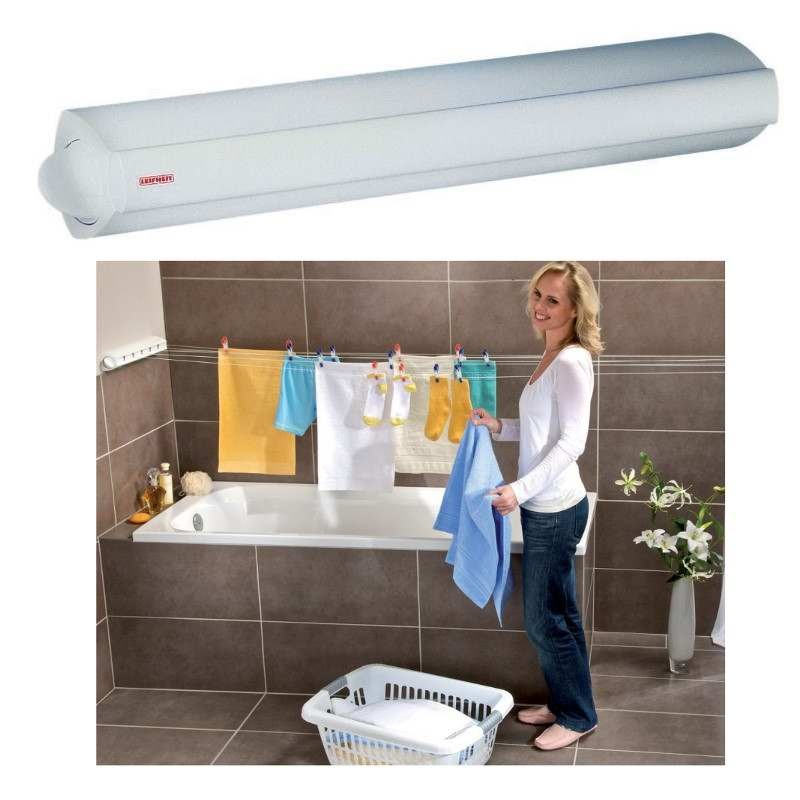 leifheit indoor rollfix retractable drying rack urban clotheslines. Black Bedroom Furniture Sets. Home Design Ideas
