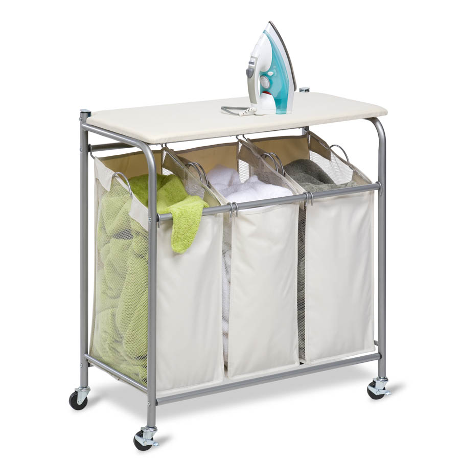 Sort and Iron Triple Laundry Center, Natural / Silver