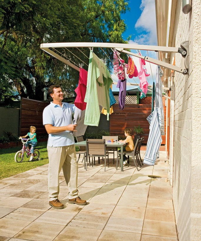 Hills Supa Fold Single Folding Frame Clothesline - Pebble Beach (Color)