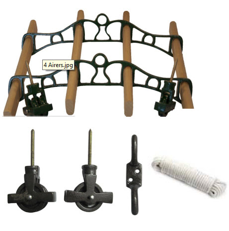 Fairfield 4 Lath Cast Ceiling Airer Kit