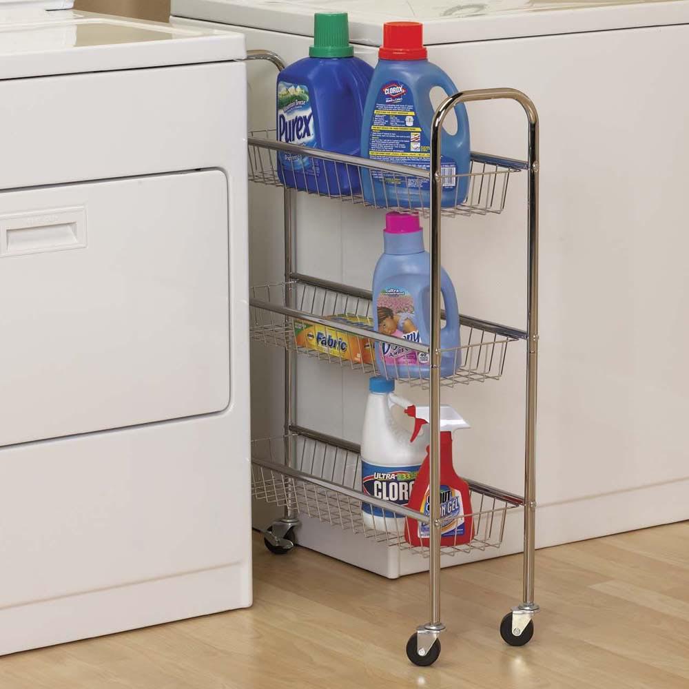 Chrome 3-Tier Storage Cart