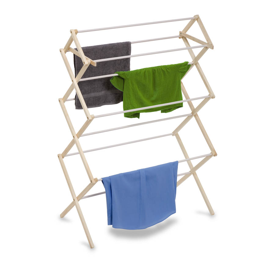 Large Wooden Clothes Drying Rack