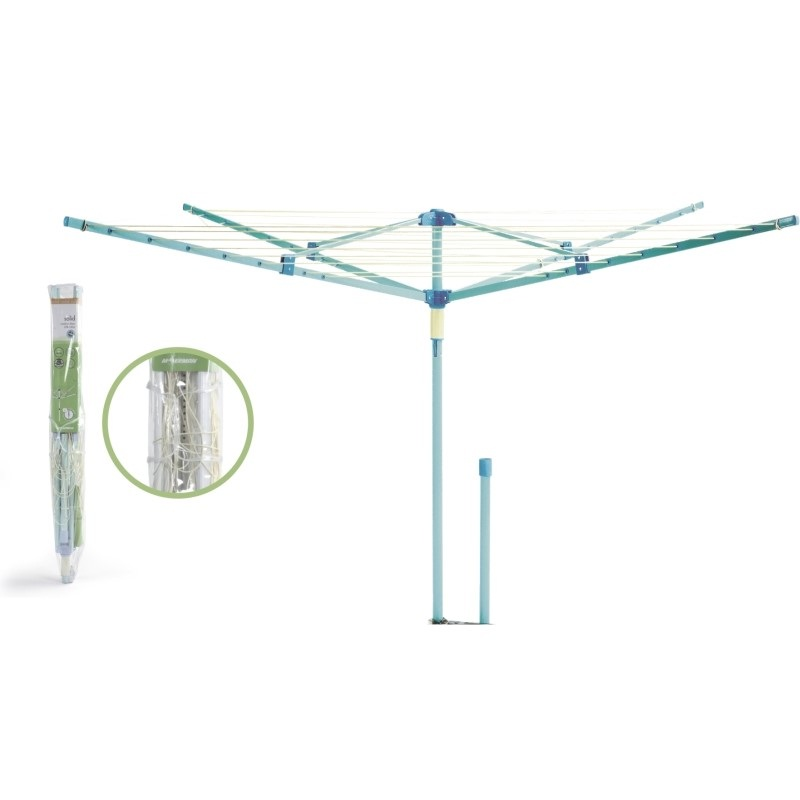 Moerman Solid 4 Steel Arms 131ft  Rotary Clothesline