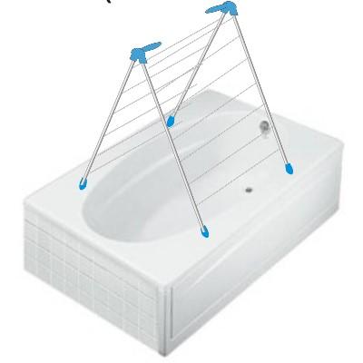 Moerman Indoor Overbath Clothes Drying Rack