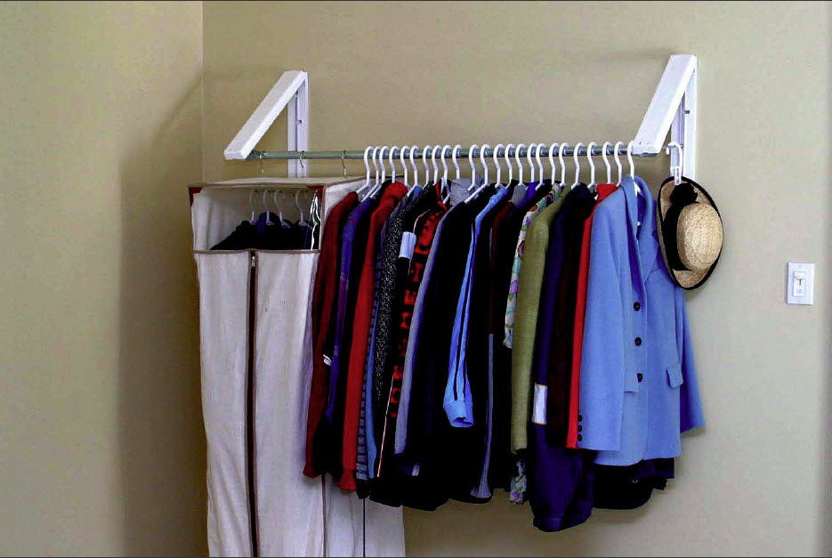 Wall mounted drying rack urban clotheslines - Clothes storage for small spaces model ...