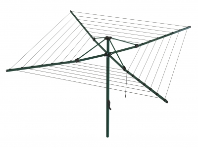 Hills Rotary 6 Umbrella Clothesline - Norfolk Pine (Dark Green)