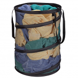 Pop Up Spring Form Hamper - Polyester Black Mesh